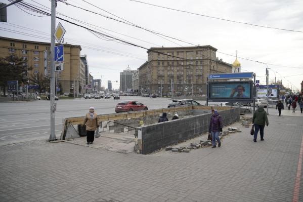 Переход возле Первомайского сквера будут ремонтировать больше месяца