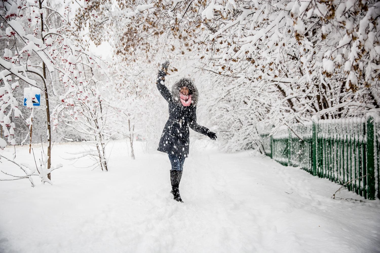 это картинка зима снег человек может