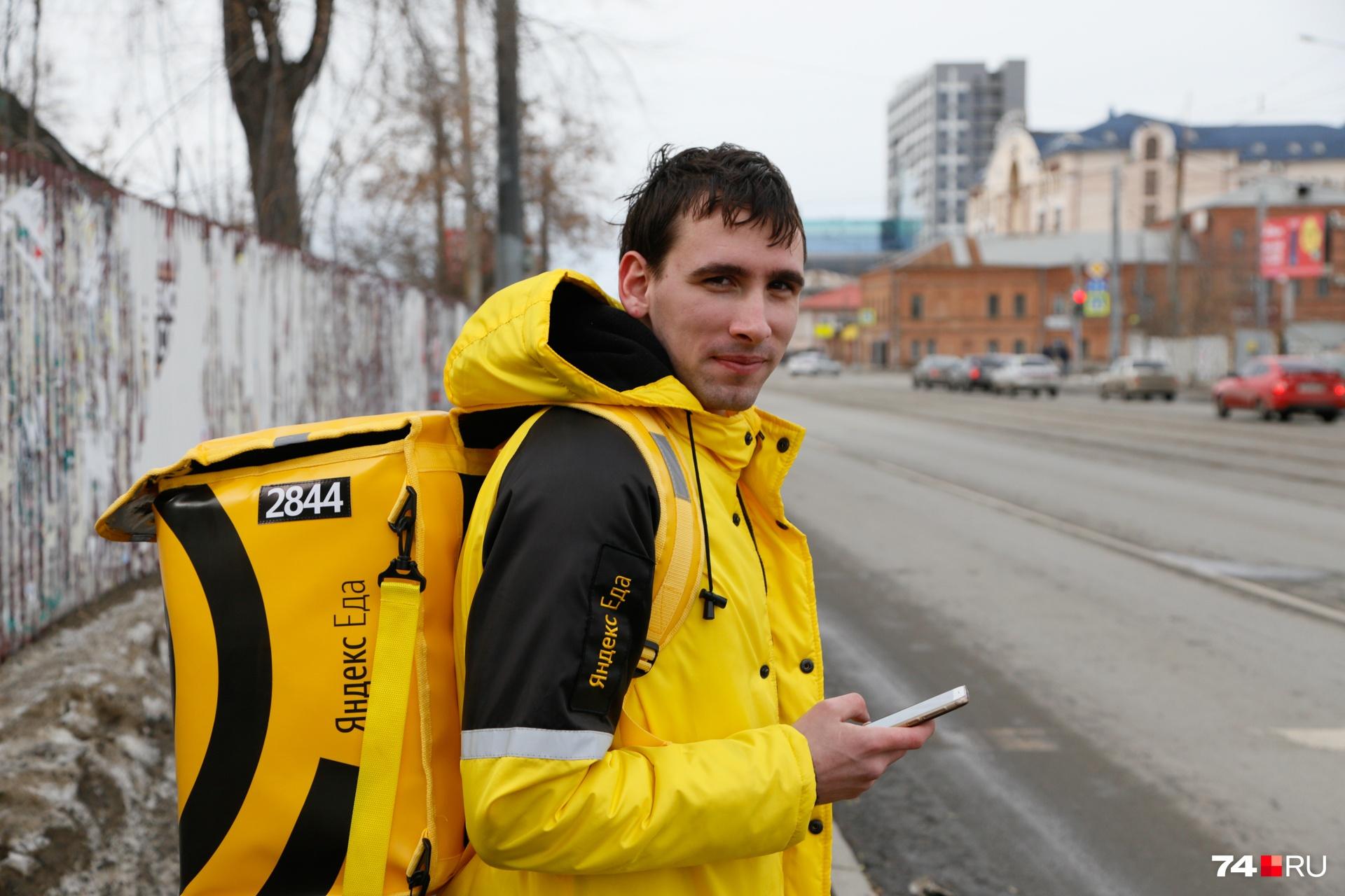 Владимир работает в «Яндекс.Еде» десятый день