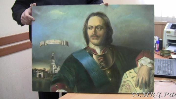У омского художника украли портрет Петра I, который он рисовал четыре года