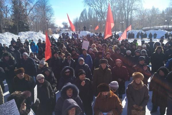 На прошлом митинге в сквере собрались около 150 человек