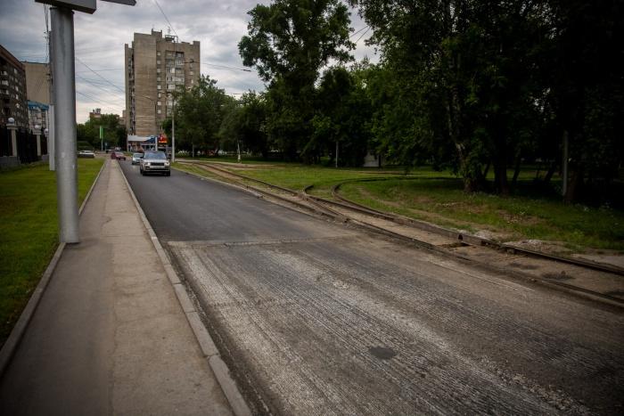 Часть ул. Орджоникидзе уже с новым асфальтом
