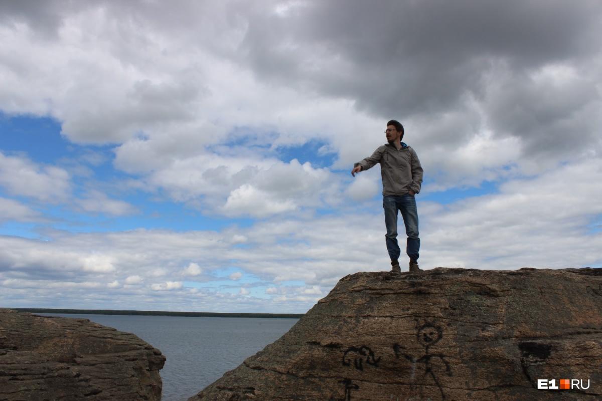 Евгений Рабинович на трибуне естественного происхождения
