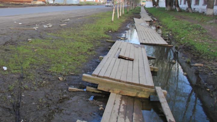 Больше трех с половиной миллионов потратят на замену деревянных мостков в Архангельске