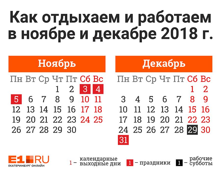 Рабочая суббота выпадает на 29 декабря, она будет укороченной на час.