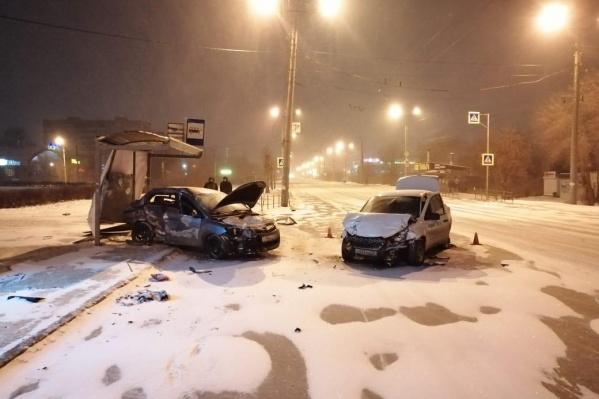 Вероятно, машину занесло из-за ночного снегопада