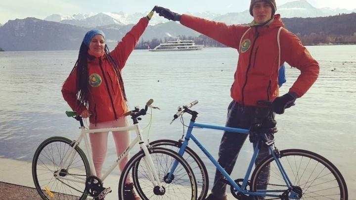 Екатеринбуржцы, отправившиеся в кругосветку на два года, начали знакомство со Швейцарией с полиции