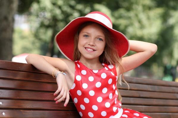 Девочка впервые участвует в конкурсе красоты