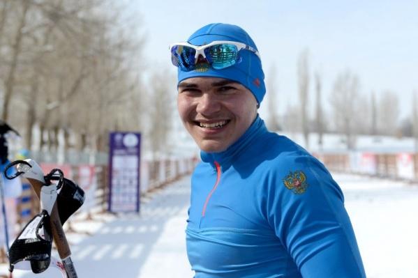 Андрей на лыжах с семи лет