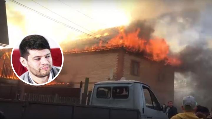 «Жар такой, что окна лопались»: во время пожара на Родниковой ярославец спас соседние дома от огня
