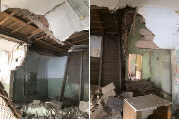 Так выглядит помещение бывшего магазина на первом этаже, именно здесь хотели устроить перепланировку