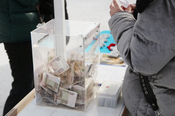 В урне было около 10 тысяч рублей пожертвований