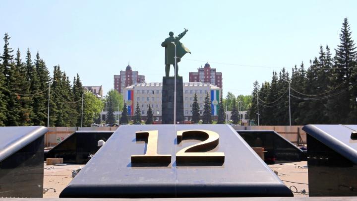 Осталось немного: UFA1.RU подсмотрел, как достраивают фонтан-часы на Горсовете