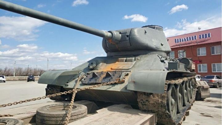 Изъятый на границе с Казахстаном танк Т-34 передали музею Верхнего Уфалея
