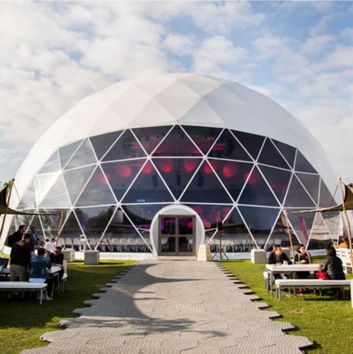 Для титулованных партнеров будут работать 7 сферических шатров