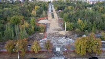 Осталось три месяца: наблюдаем за реконструкцией парка Гагарина с воздуха