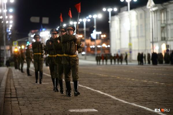 Репетиция парада Победы 27 апреля