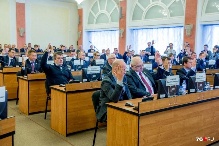 Депутаты голосуют за кандидатуру Владимира Волкова