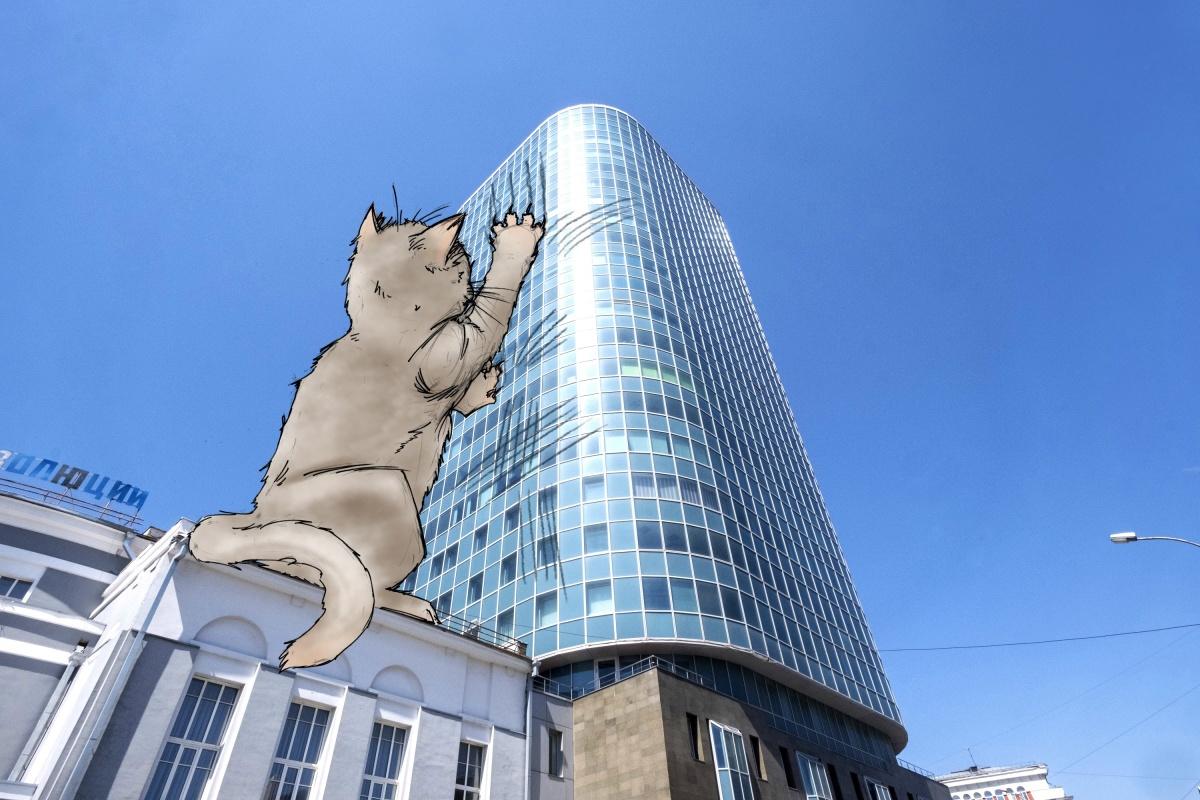 Один из самых высоких бизнес-центров превратился в когтеточку
