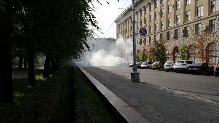 В центре Волгограда «Лада-Приора» загорелась у вечного огня