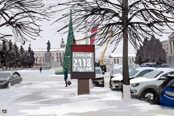 Курганский художник Юрий Прожога подарил городу на юбилей 340 скетчей