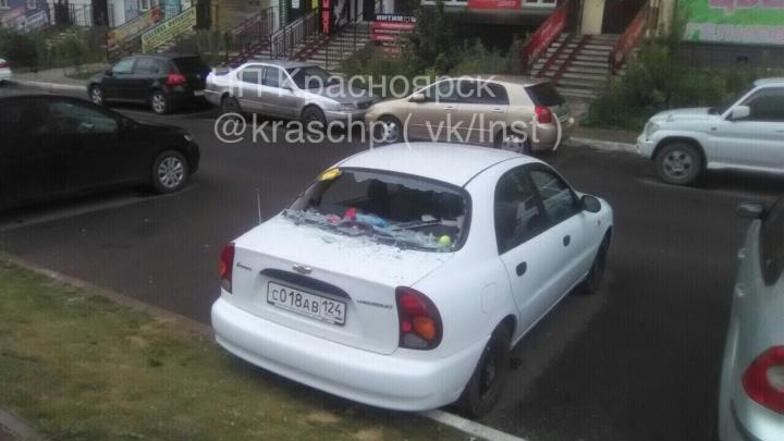 Ещё одна машина пострадала от выкинутого мусора в «Покровском»
