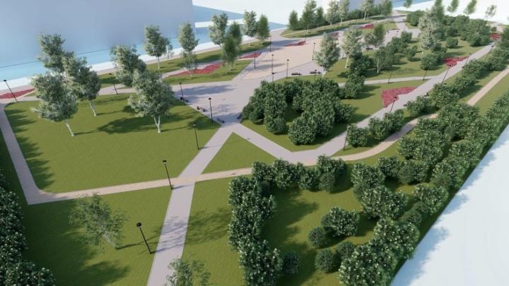 Велодорожки, тренажеры, аллеи: осенью за «Русью» появится новый парк