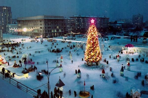 В 70-х ледовых городок на площади Ленина был куда просторнее