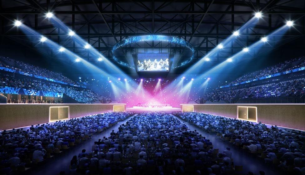 Так арену можно будет использовать во время концертов