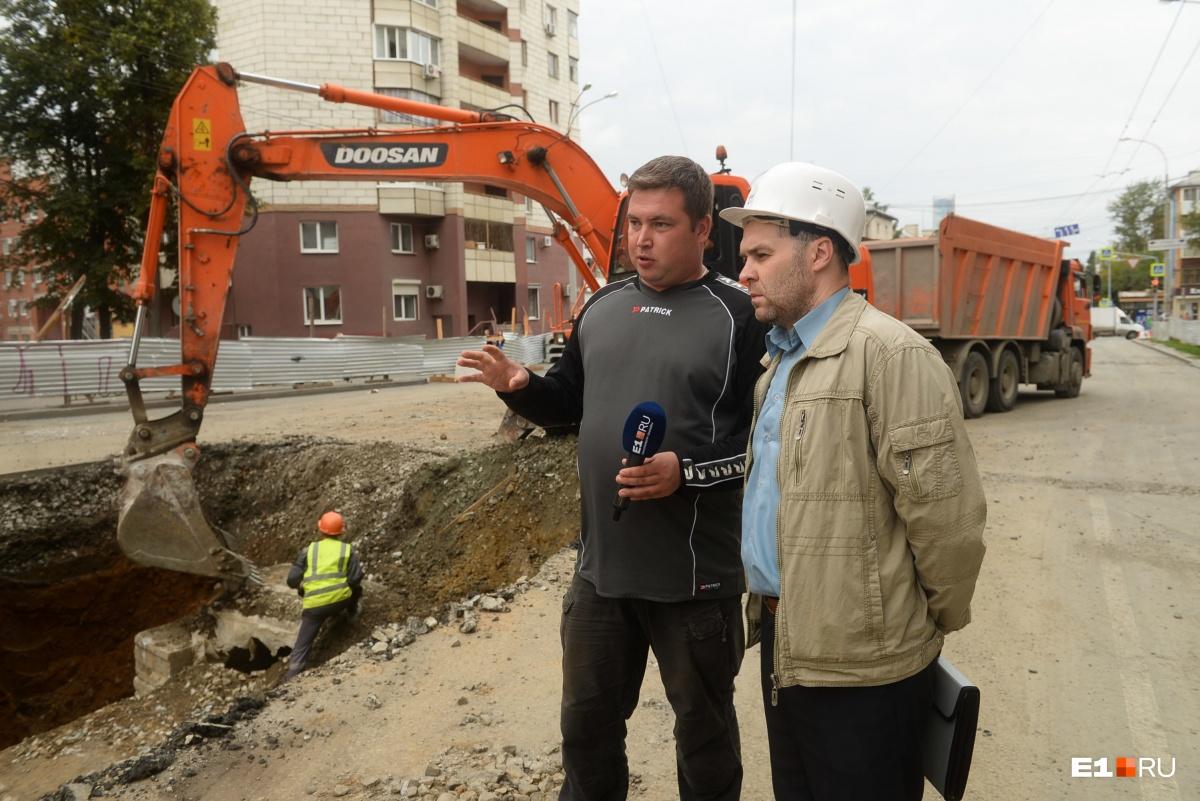 Главный специалист управления капитального строительства Сергей Гуляшов рассказал, почему разрылиасфальт у моста на Шевченко