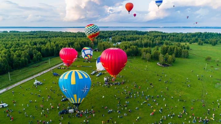 В Переславле прошел фестиваль воздухоплавания: завораживающие кадры с высоты