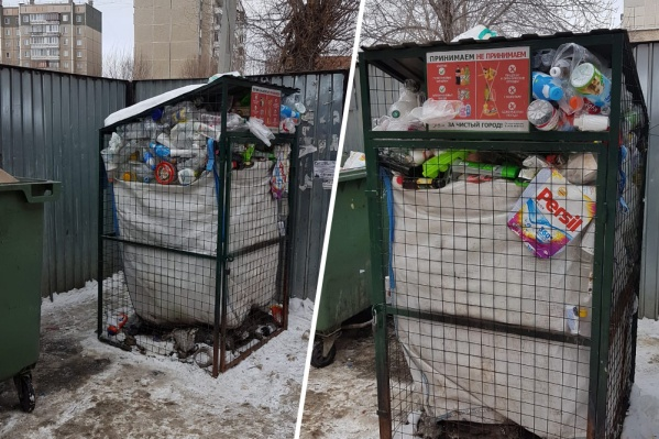 Контейнеры для раздельного сбора мусора стоят переполненными больше месяца