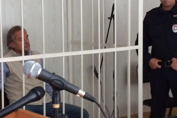 Сергей Калинин на заседании в суде