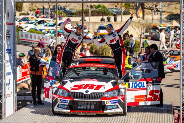 Ярослав Фёдоров (слева) и Николай Грязин провели яркую гонку на Корсике (WRC)