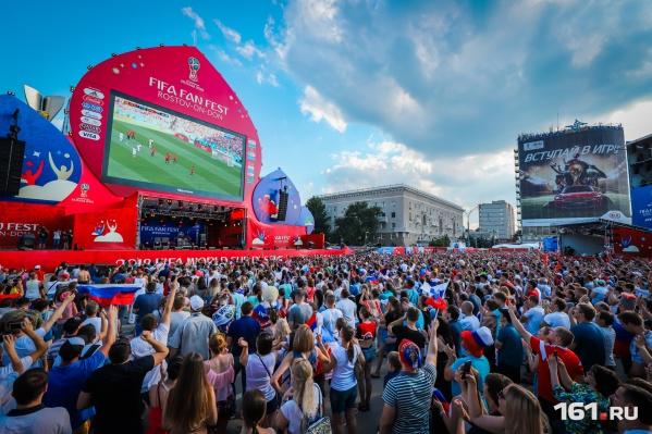 В субботу на большом экране покажут матч Россия — Хорватия