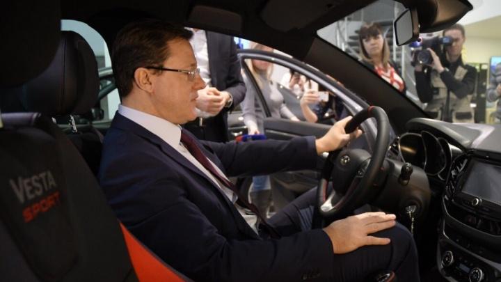 Самарский губернатор похвалился новым спорткаром в цвете «тайфун»