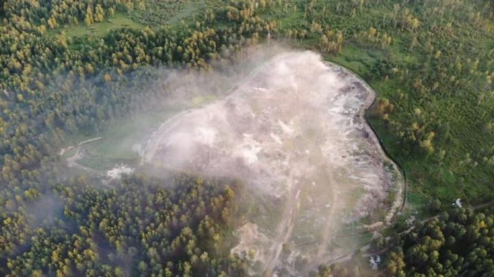 Над Богандинским висит едкий смог. Местные жители грешат на завод, сжигающий медицинские отходы