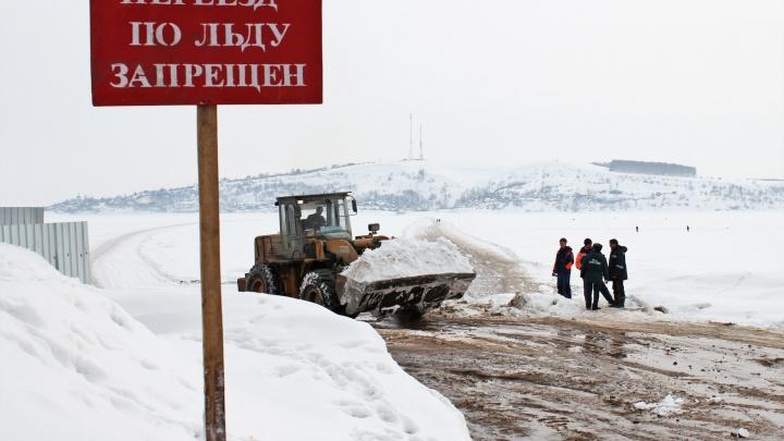 Теперь в объезд: в Новосибирской области закрылась ледовая переправа через Обское море