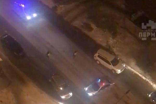 Полицейским пришлось стрелять по машине