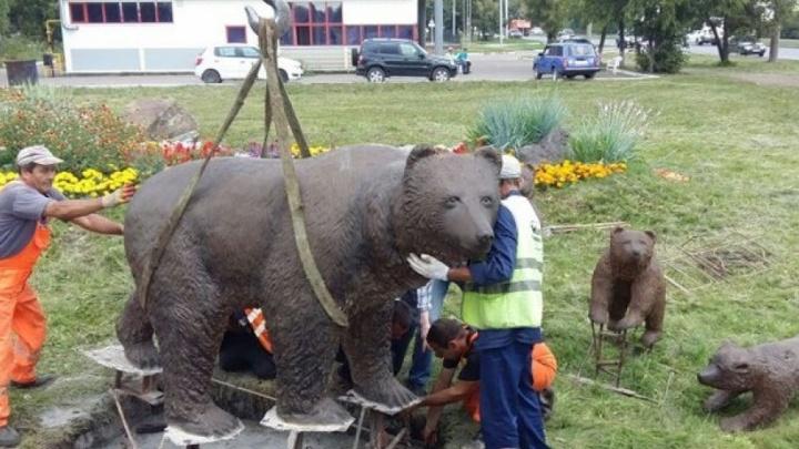 В Уфе появилась семья медведей