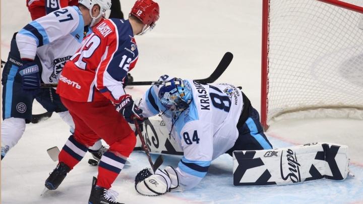 Хоккей: «Сибирь» проиграла ЦСКА в выездном матче