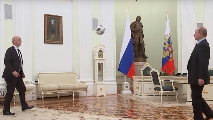 Владимир Путин снялся в рекламе футбольного чемпионата