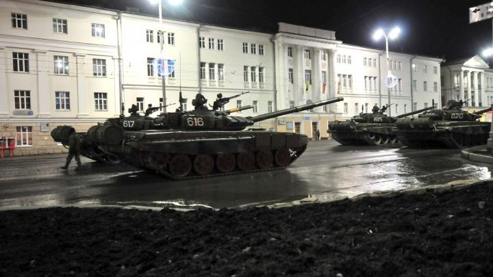 В центре Екатеринбурга на следующей неделе пройдут сразу две репетиции парада Победы