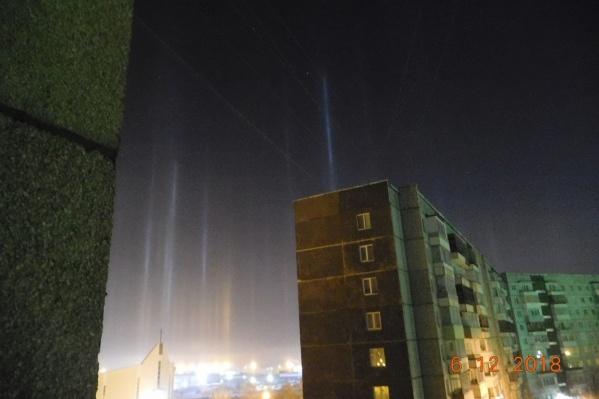 Данное явление образуется благодаря преломлению лучей света