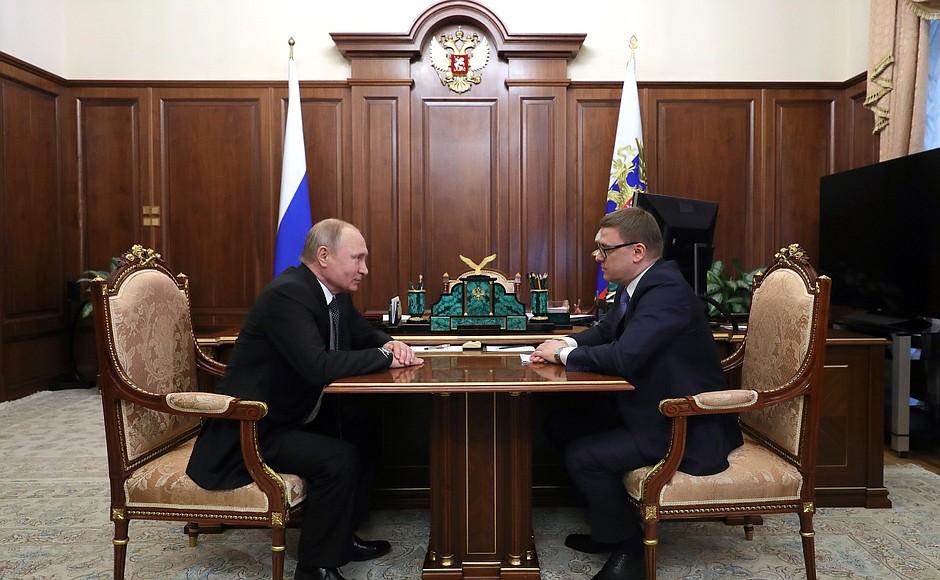 На встрече Владимир Путин предложил Алексею Текслеру возглавить Челябинскую область