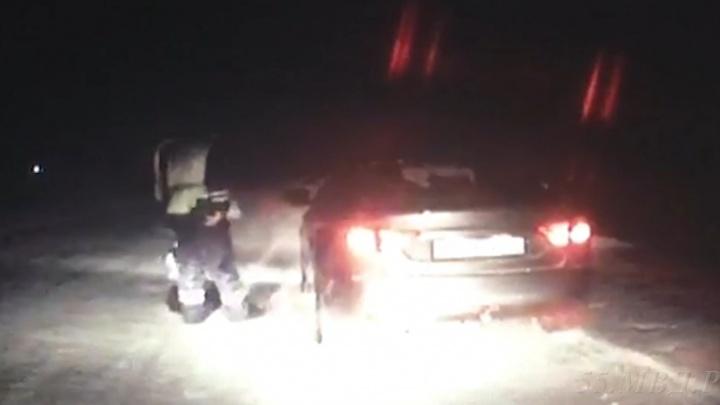 Омские полицейские задержали девятилетнего водителя