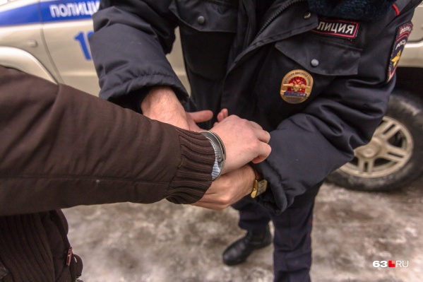 Мужчину поймали недалеко от места преступления