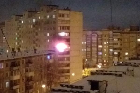 Пожар произошел на седьмом этаже