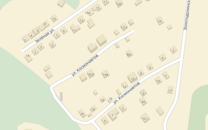 Самая кривая улица в Новосибирске —улица Космонавтов в Советском районе