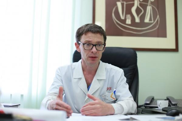 Алексей Лубнин рассказывает, что при костной онкологии приходится ампутировать человеку конечность, чтобы спасти жизнь